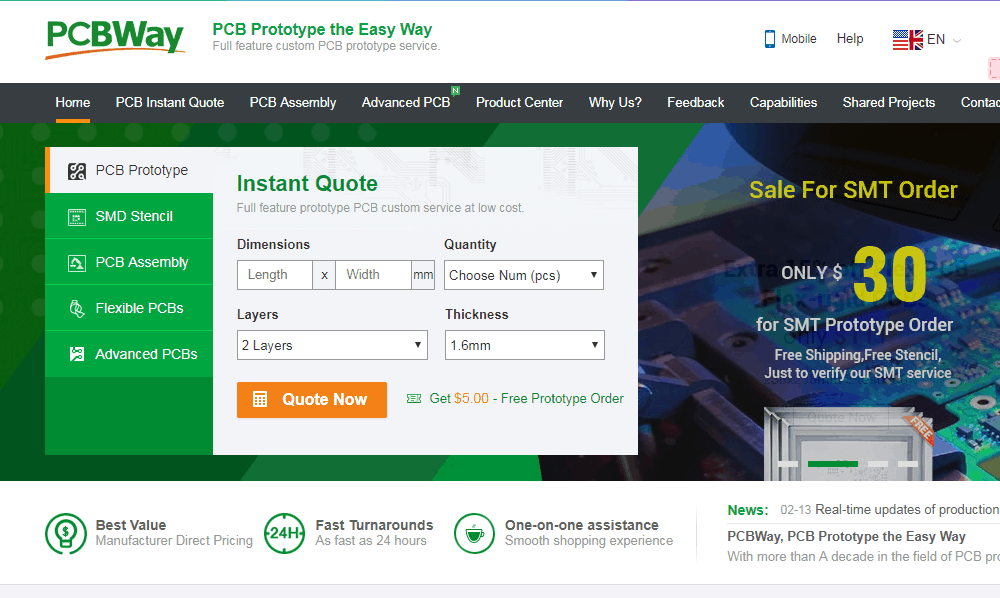 China PCB Manufacturer PCBWAY