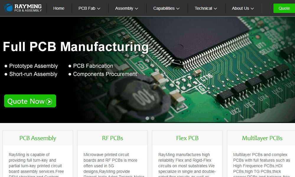 China PCB Manufacturer RAYPCB