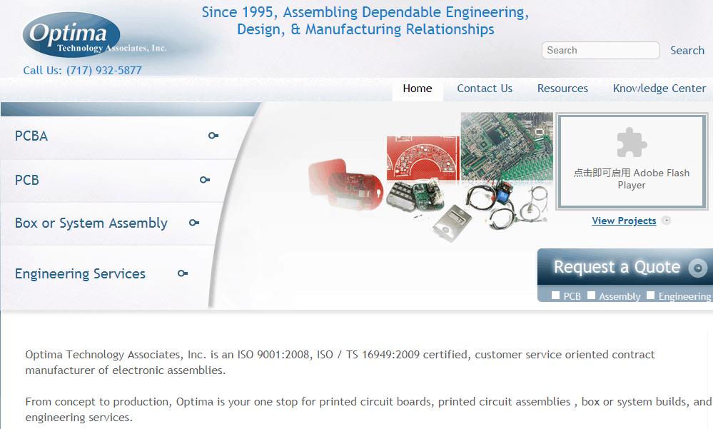 Prototype PCB Assembly Optima Technology Associates, Inc