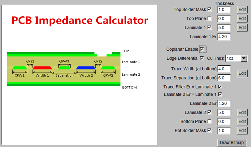 pcb impedance calculator