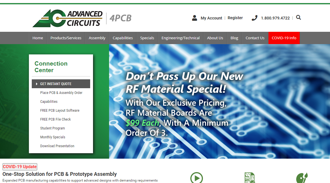 Advanced Circuits turnkey pcb assembly manufacturer